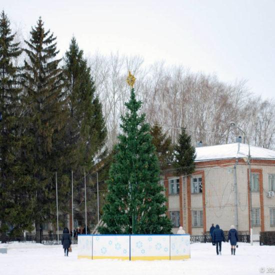 елка на площади Фотографии Старая Майна Ульяновской области
