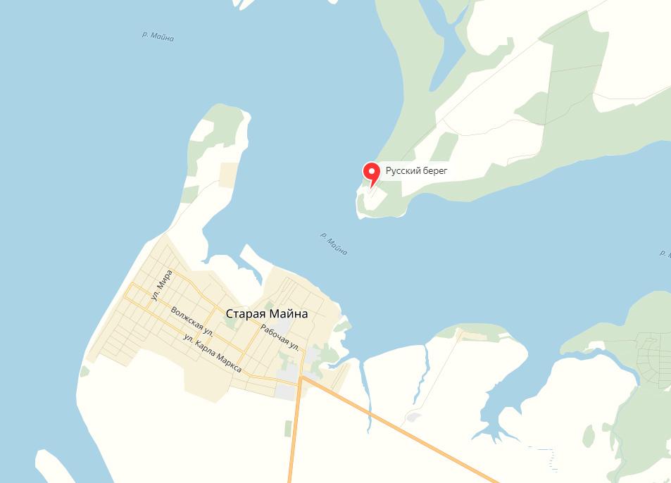 русский берег, старая майна, старомайнский район